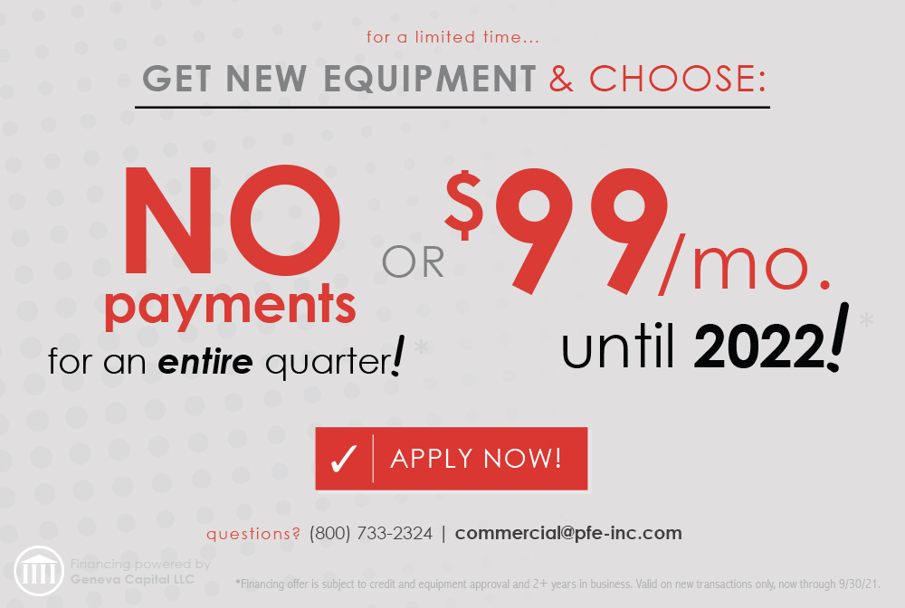 No payments for an entire quarter! OR $99/month until 2022!
